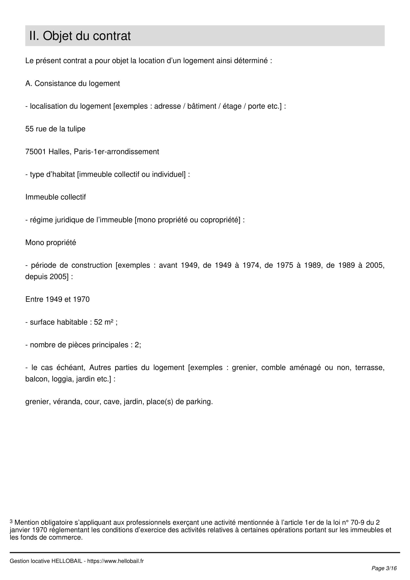 Contrat De Location Page 2 ...