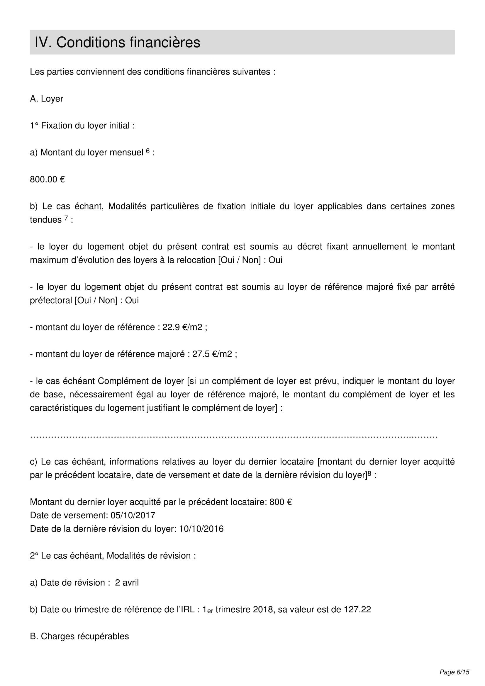 ... Contrat De Location Page 6 ...