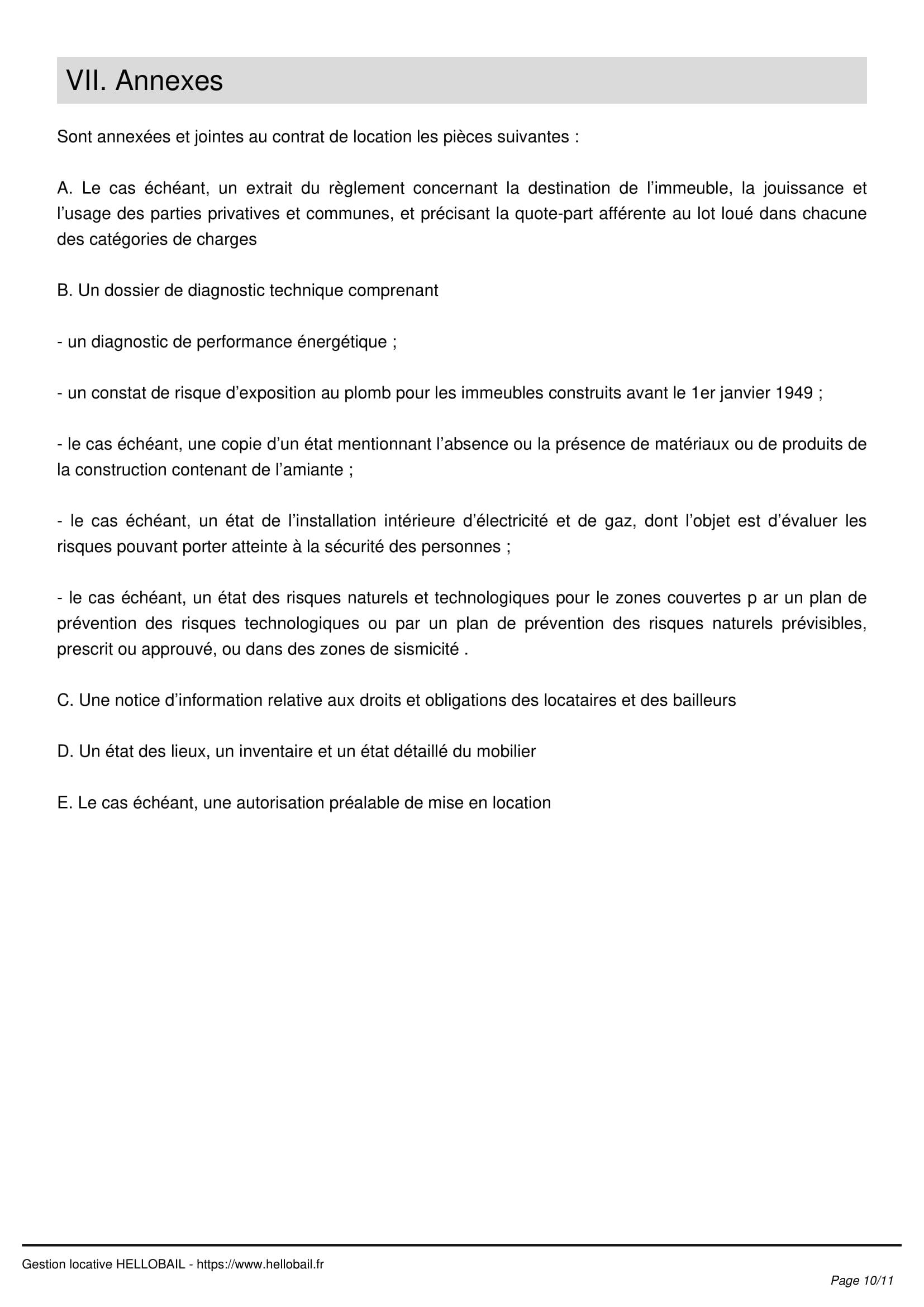 Modele Bail Mobilite Contrat De Location Courte Duree De 1 A 10 Mois