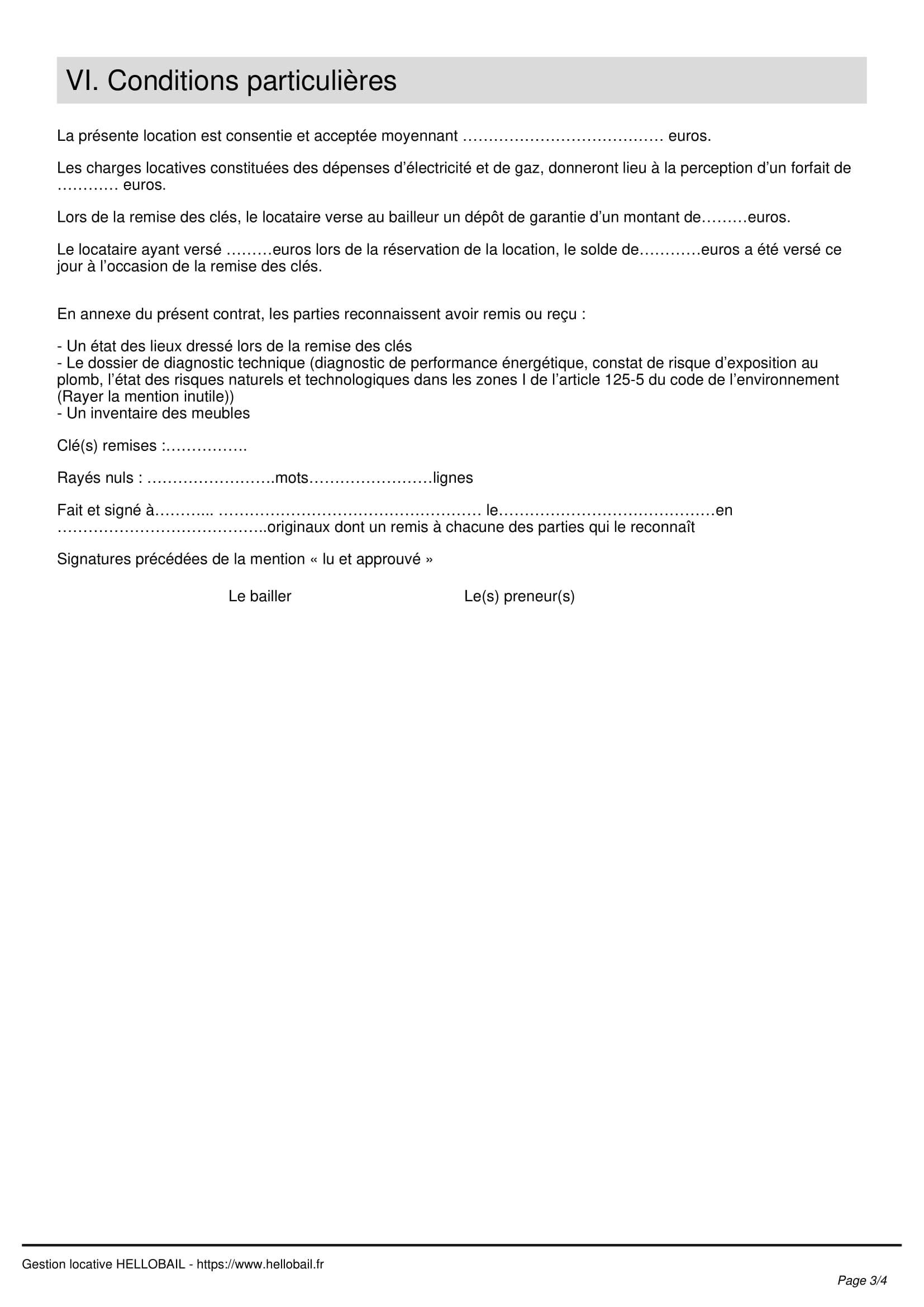 Contrat De Location Saisonniere Modele Et Reglementation