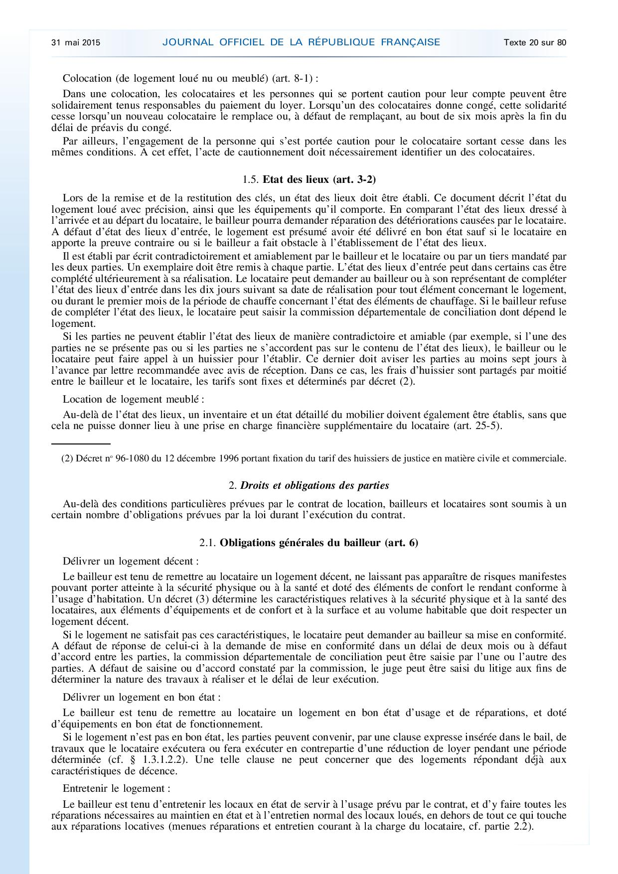 Contrat de location meuble gratuit pdf bail de location for Location non meuble